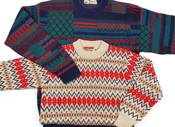 Vintage Cosby Patterned Sweater