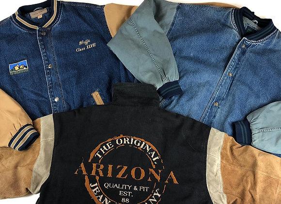 Vintage Varsity Denim Jacket