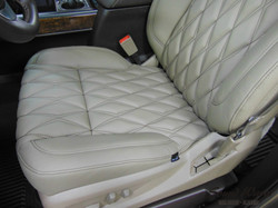 Close Up Front Seat Leather