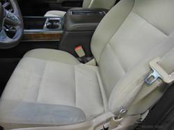 Close Up Cloth Seats Before