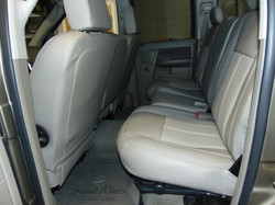 Leather seats installed