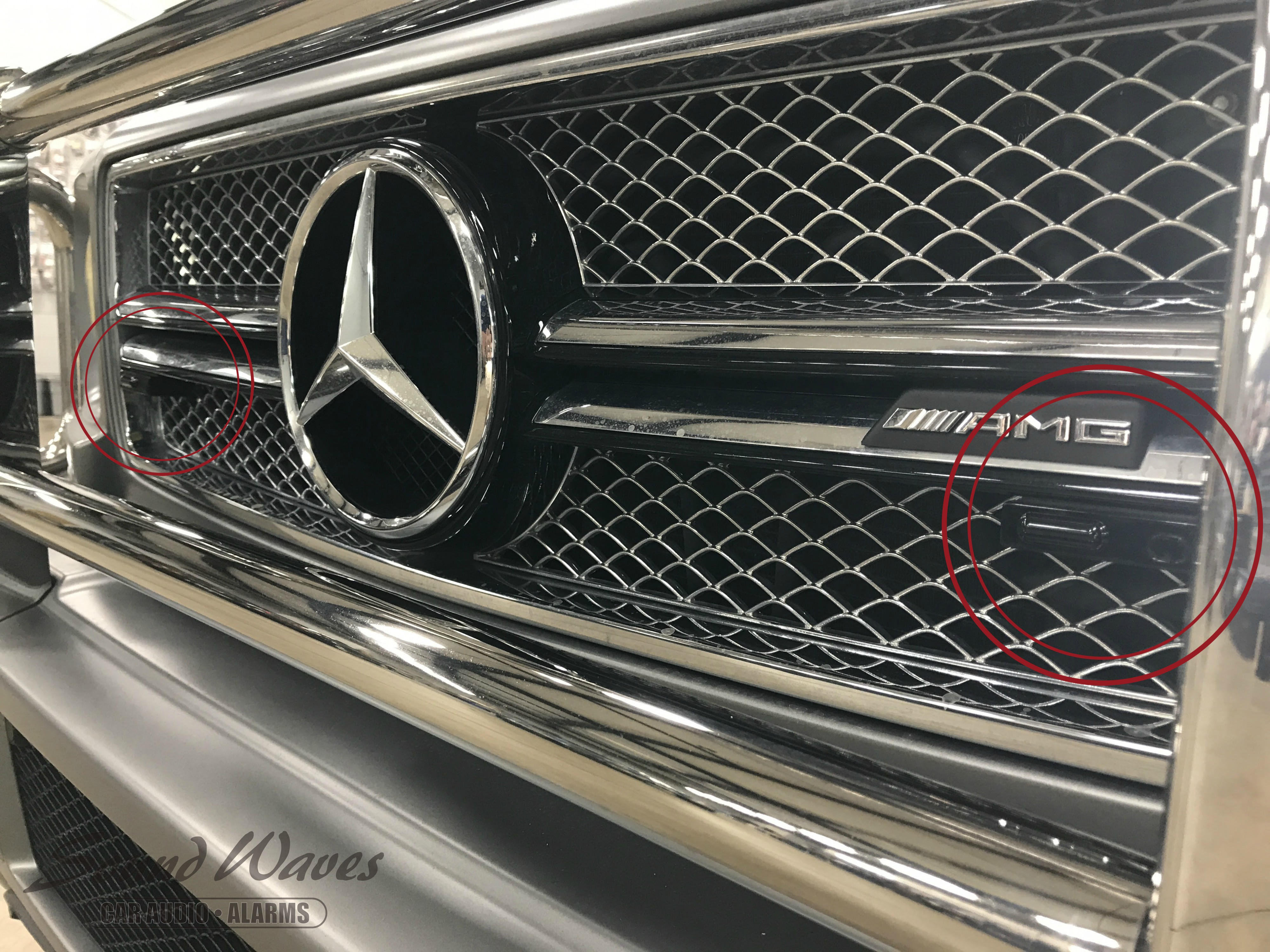 G Wagon Close up of laser shifters