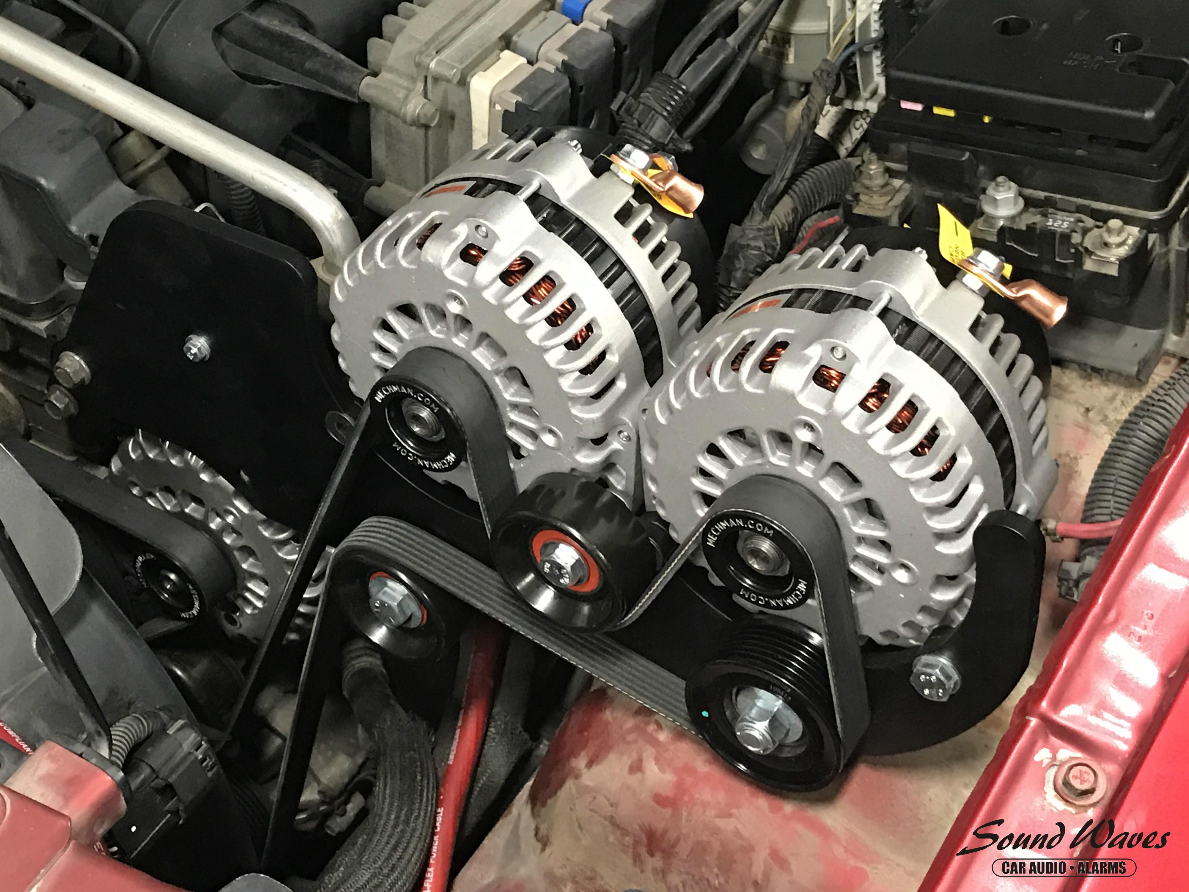3 Alternators Installed