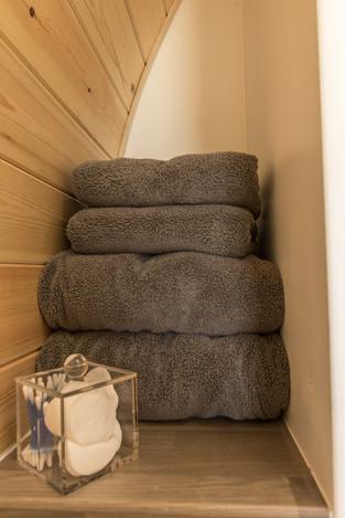 Fresh fluffy towels