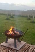 Fire pit roaring