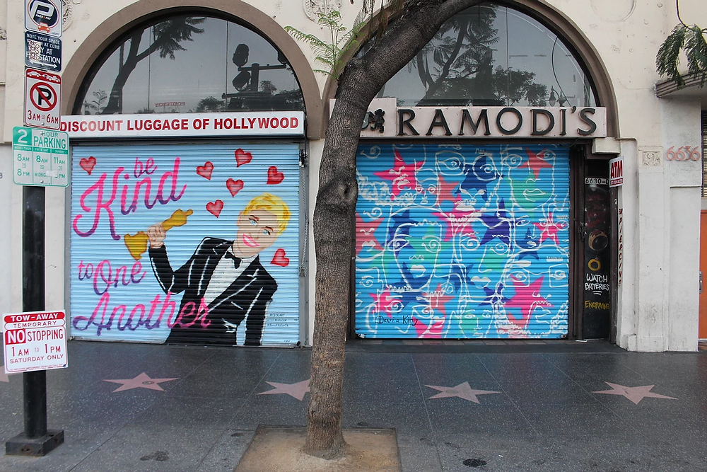 Murals by Cloe Hakakian and Davia King in Hollywood for Heineken