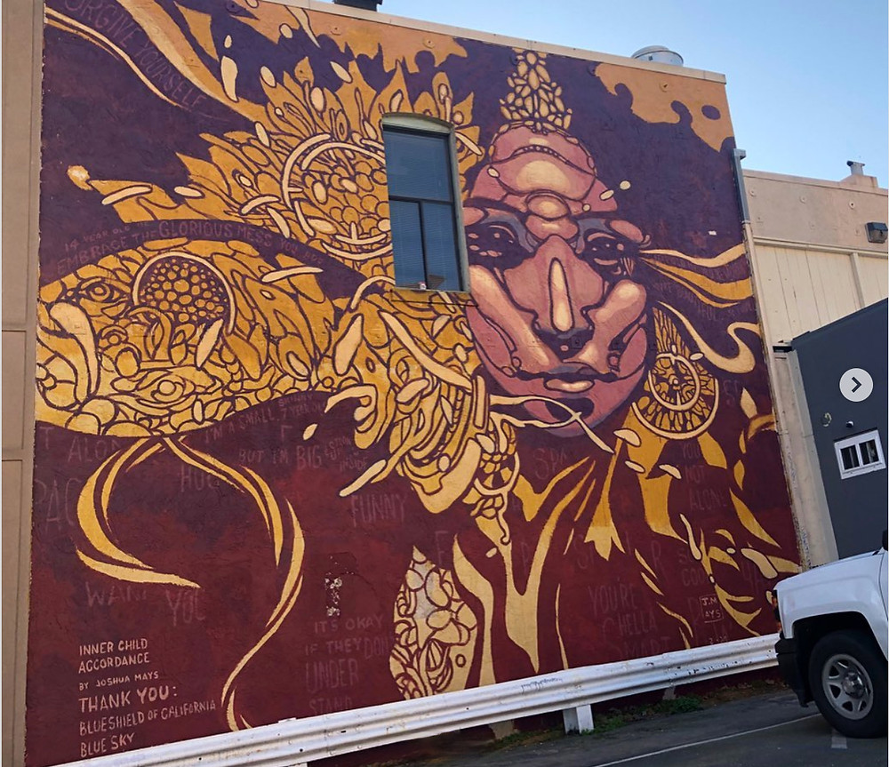 Mural in Okaland by Joshua Hays for Blue Shield