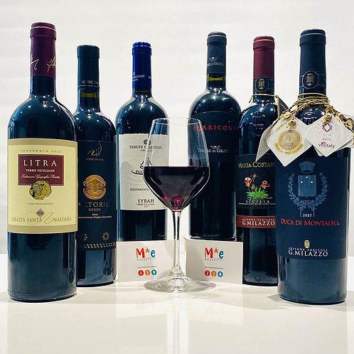 Selezione Riserva vini rossi siciliani - 6 bott