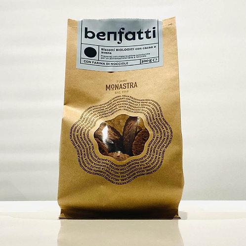 Biscotti BIO cacao, avena e farina di riso - 200 gr