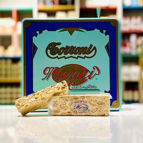 Torrone siciliano classico mandorle e pistacchio - 100 gr