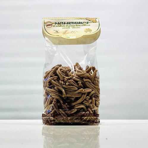 Caserecce di timilia   Pasta artigianale di grano antico siciliano - 500 gr