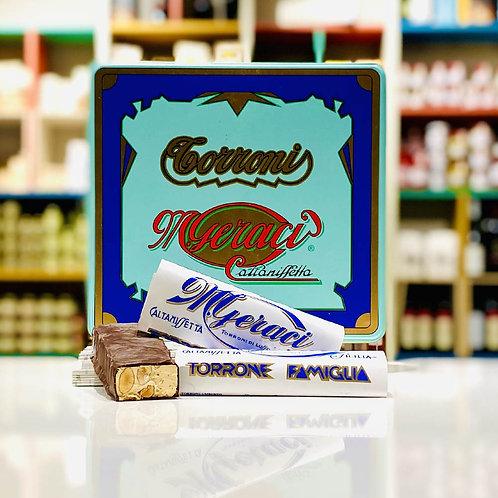 Torrone siciliano cioc. fondente mandorle e pistacchio - 100 gr