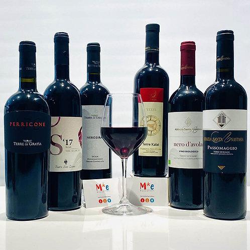 Selezione di vini rossi siciliani - 6 bott