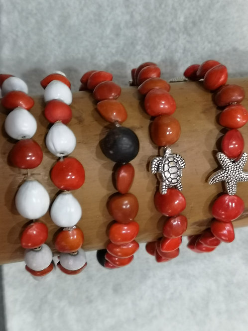 Bracelet en graines ,différents modéles