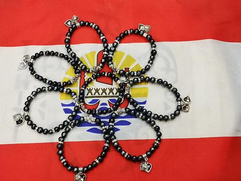 Bracelet Acier Perles d'eau douce