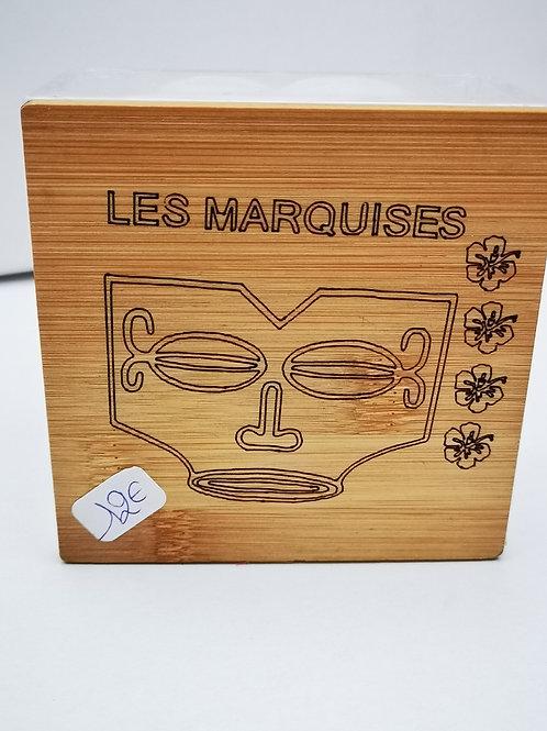 Boite carré bambou