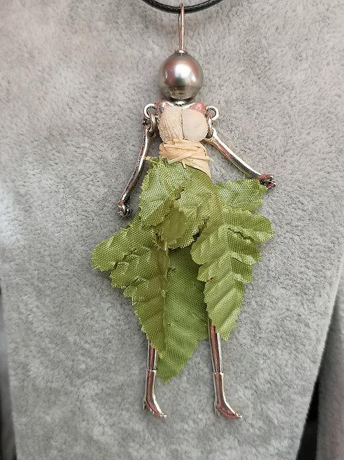Pedentit poupée avec Perle de TAHITI