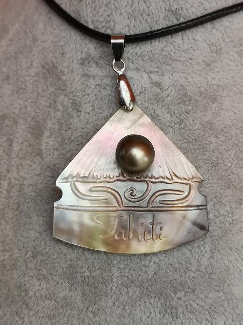 Collier Nacre FARE avec Perle de TAHITI