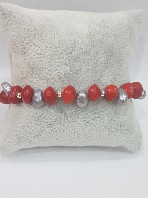 Bracelet graines église et Perles d'eau douce