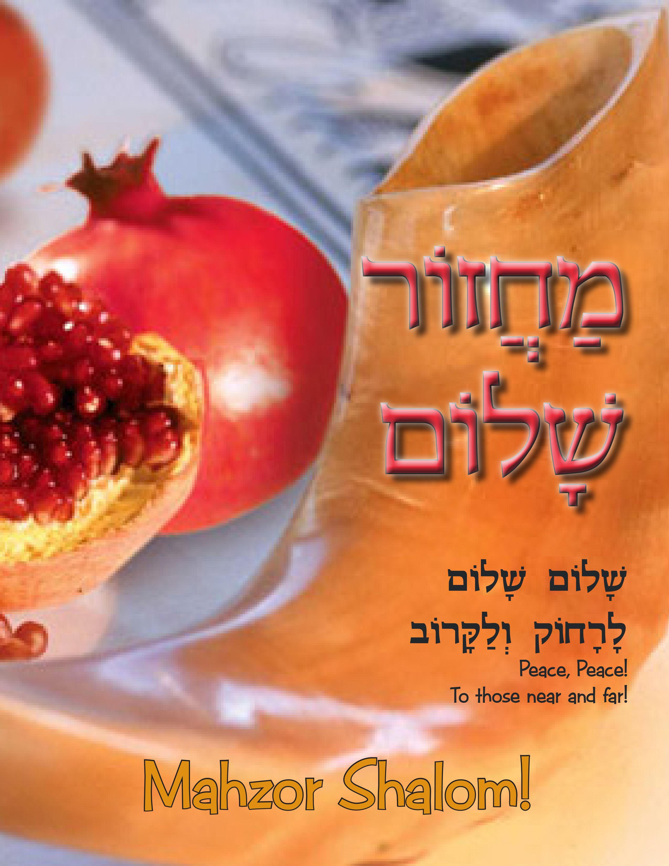 Mahzor Sholom Student Edition