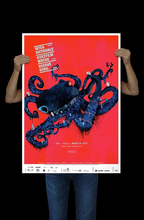 Plakat Kurzfilmwoche 2017