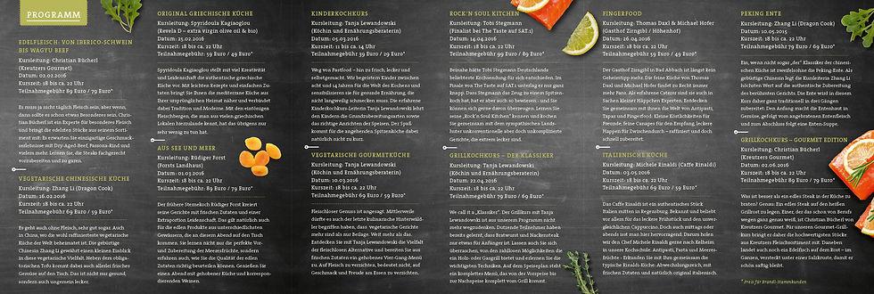 Kochkurse Flyer