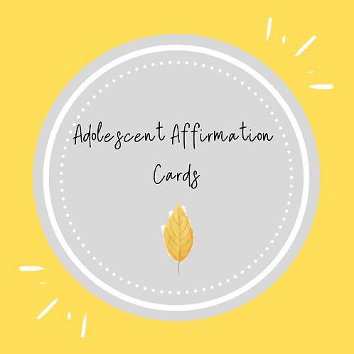 Adolescent Affirmation Cards