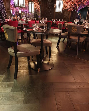 Flooring in restaurant