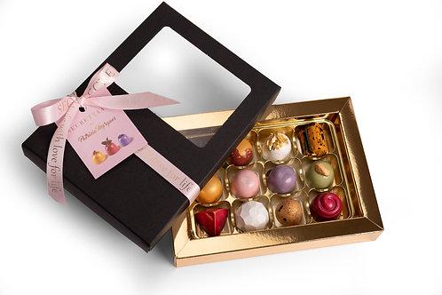 Luxury chocolate pralines