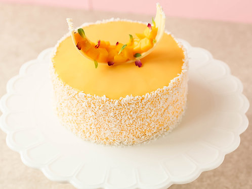 Mango and coconut Entremet