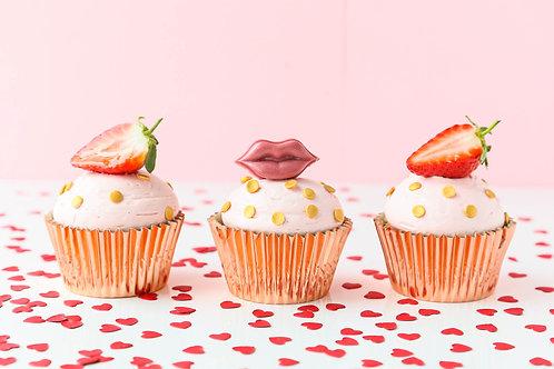 Luxury champagne  strawberry Cupcake