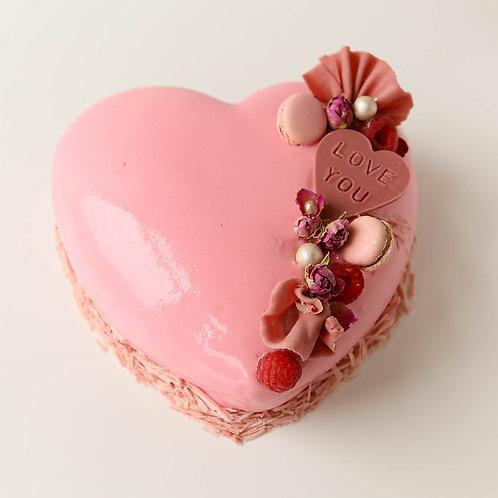 Valentine's Entremet cake