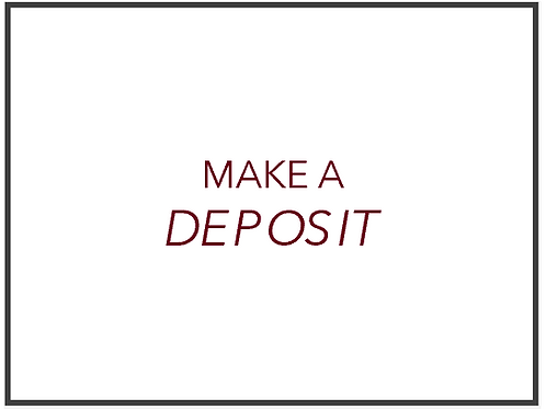 Make a refundable deposit to start a project.