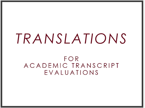 Add Translation to Your Academic Transcript Evaluation