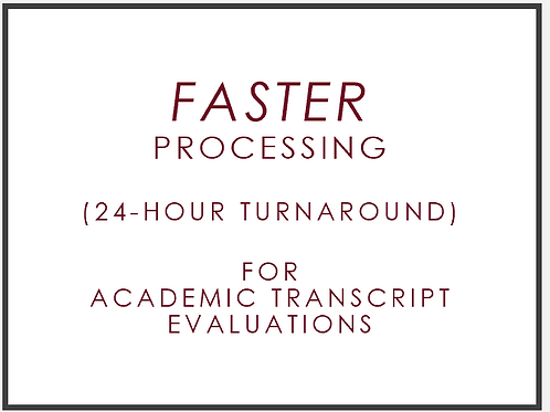Add Faster Processing to Your Academic Transcript (supplement service)