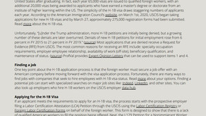 ProfVal Pamphlet: Finding a job & understanding the H-1B process