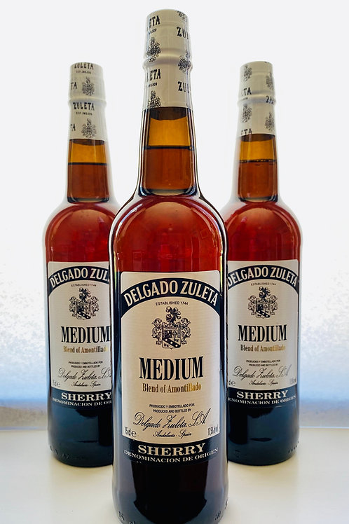 Medium Amontillado Sherry by Delgado Zuleta
