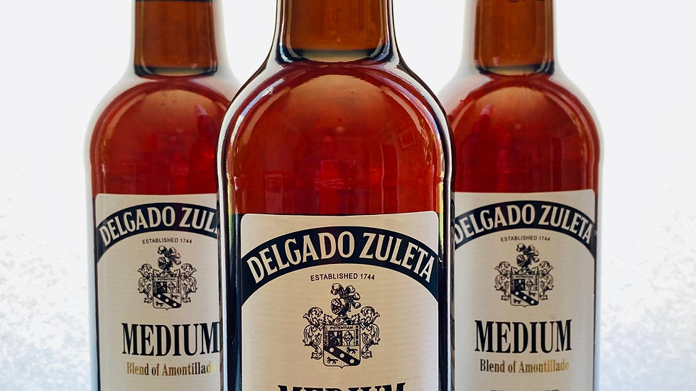 Medium Amontillado Sherry by Delgado Zuleta