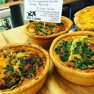 Quiches made fresh daily