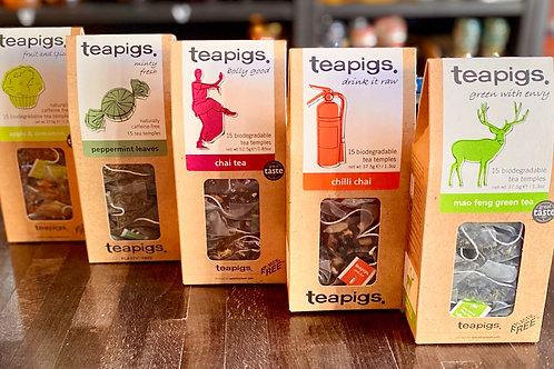 Teapigs Apple & Cinnamon, Peppermint, Chai, Chilli Chai, Mao Feng Green
