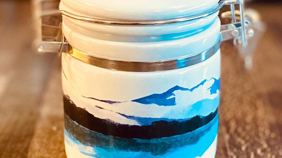 Halen Môn Sea Salt Ceramic Jar and Scoop