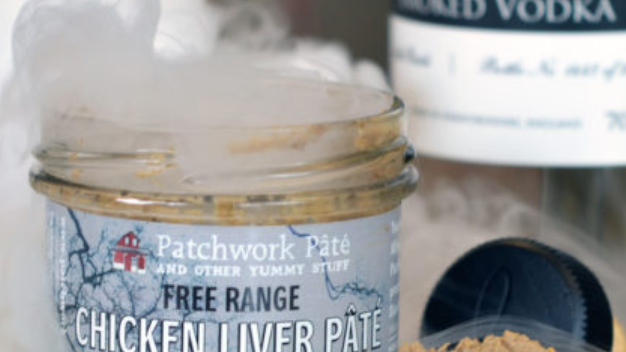 Patchwork Pate Jar