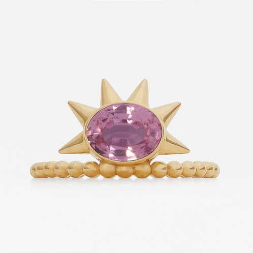 Spike Oval Pink Sapphire Ring