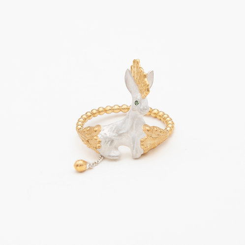 Punk White Rabbit ring