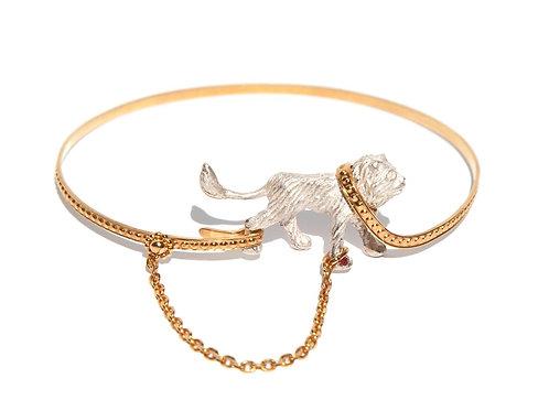 Captive White Lion bangle