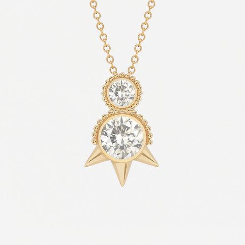 Round White Sapphires Necklace