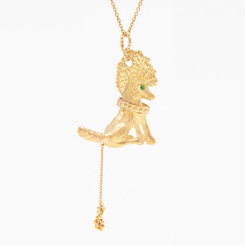 Punk Gold Fox necklace