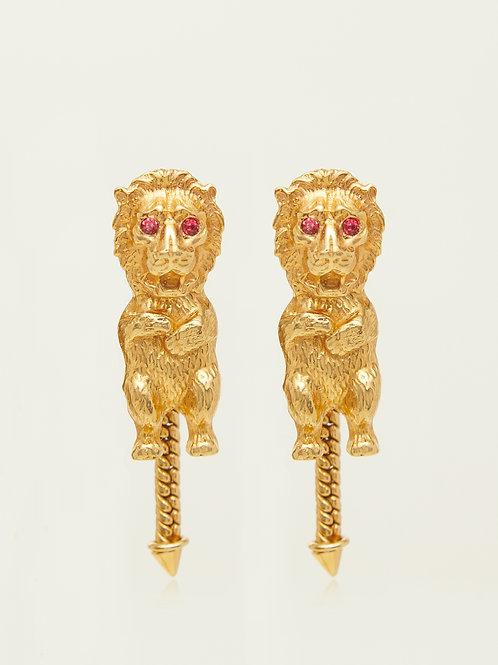 Bear with Lion mask Earrings