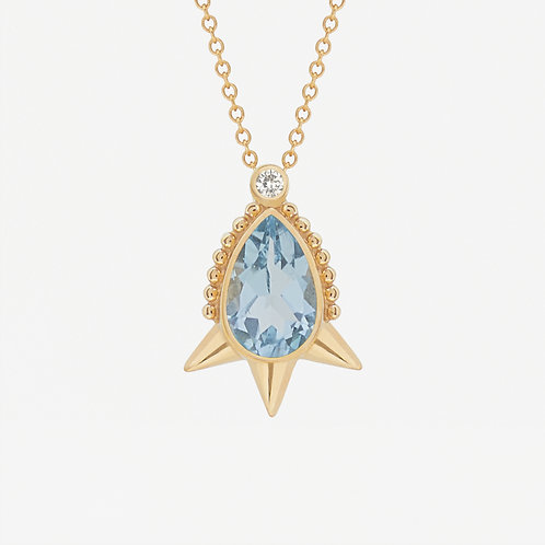 Small Pear Topaz Necklace