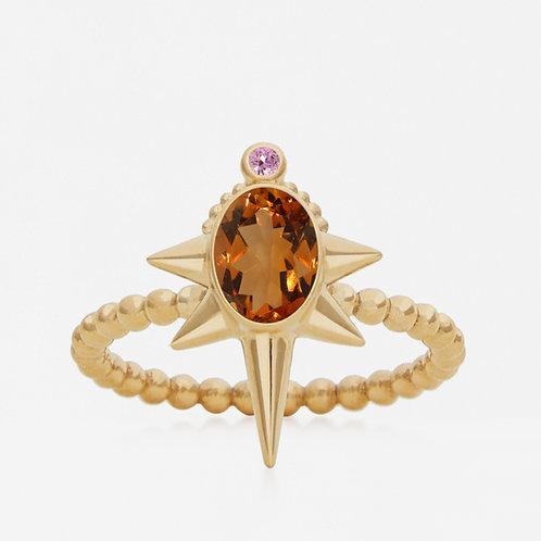 Oval Madeira Citrine Ring